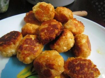 Chhana balls golden fried