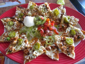 spicy chicken nachos