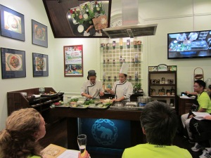 TV live recording of what's cooking - a peep into the pot