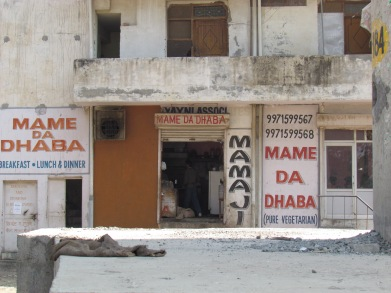 Long shot of Mame da Dhaba - the front side is the dining room & the hind side is the kitchen.