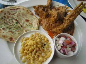 Mutton chaap with laccha paratha & boondi raita
