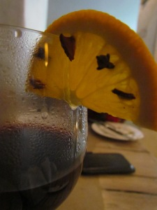 Mulled wine prepared & served on order