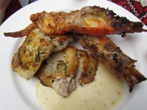 Grilled fish & Grilled Jumbo Prawns