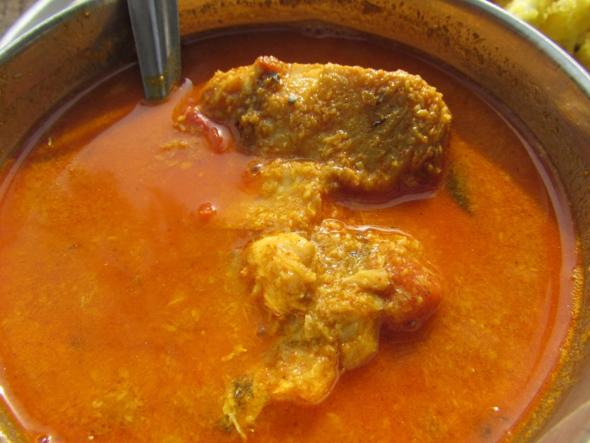 Fish curry served with Kappa