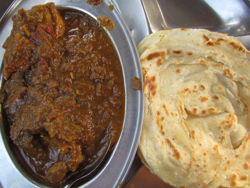 Malabar Parota with the chicken masala