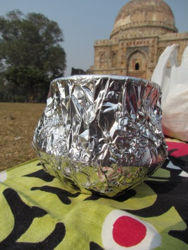 The 600 year old monument at Lodhi Garden forming a backdrop to our Lucknowi Dum Biryani