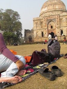 Our lunch setup at lodhi gardens