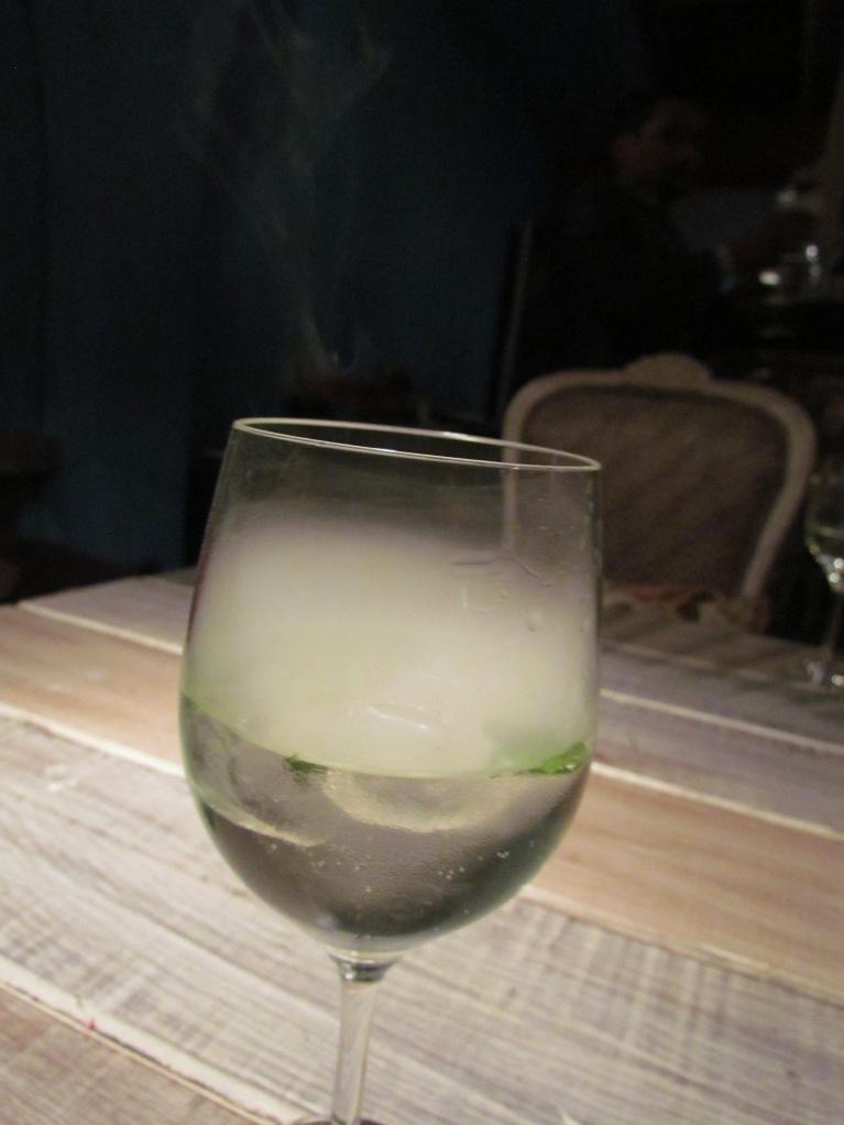 Dense Smoke inside a glass @ The Dirty Martini