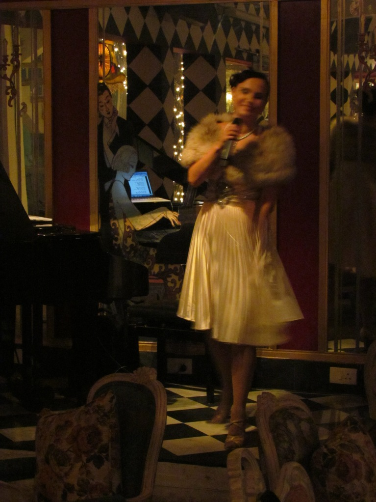 The Lady doing a Live performance @ The Dirty Martini
