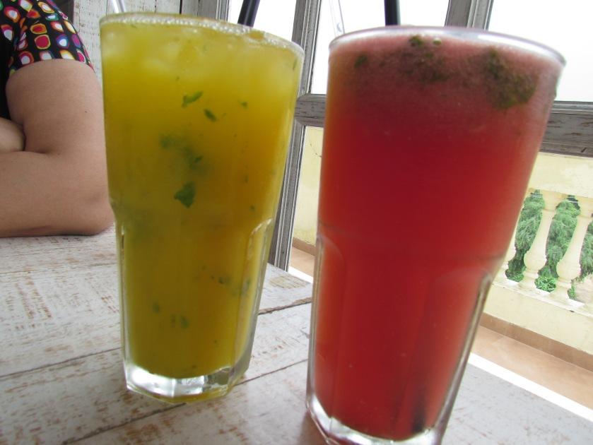 thin fruity mocktails - fresh watermelon based & fresh orange based