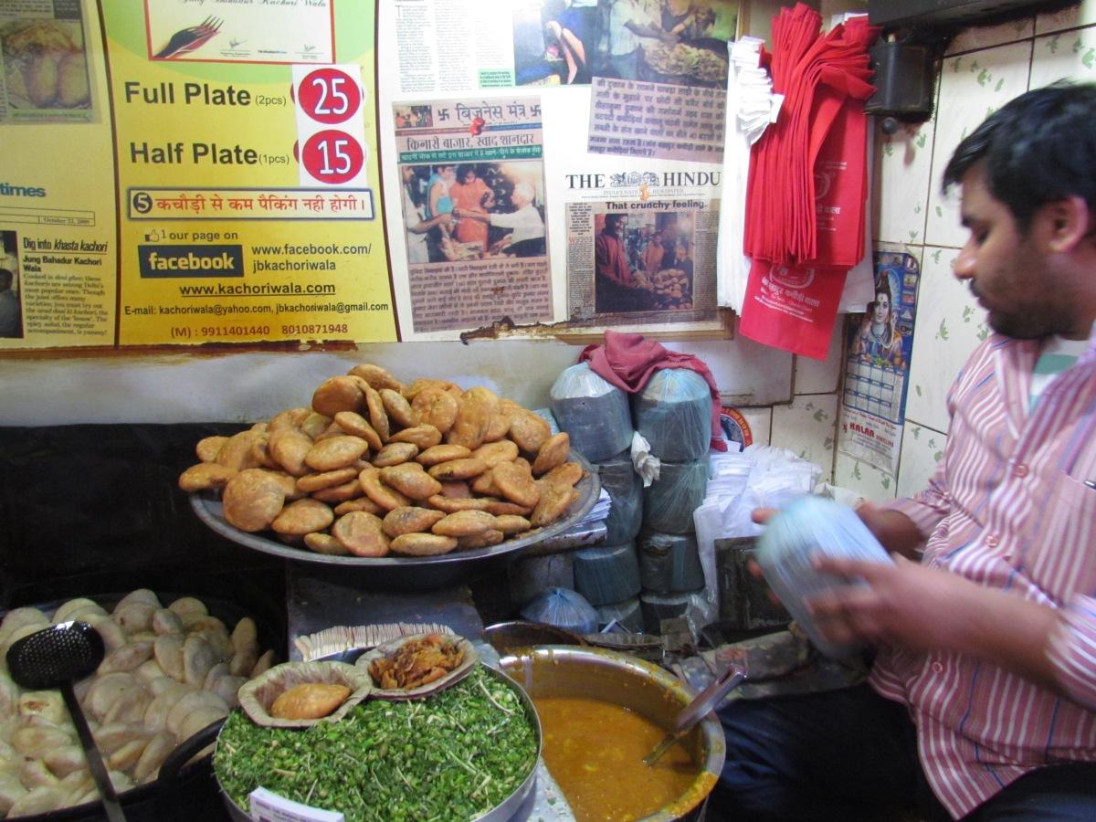 Jb kachoriwala near parathewali gali chandni chowk for Assamese cuisine in delhi
