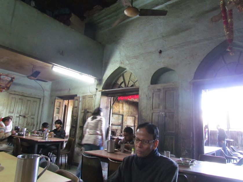 A view of the dining hall