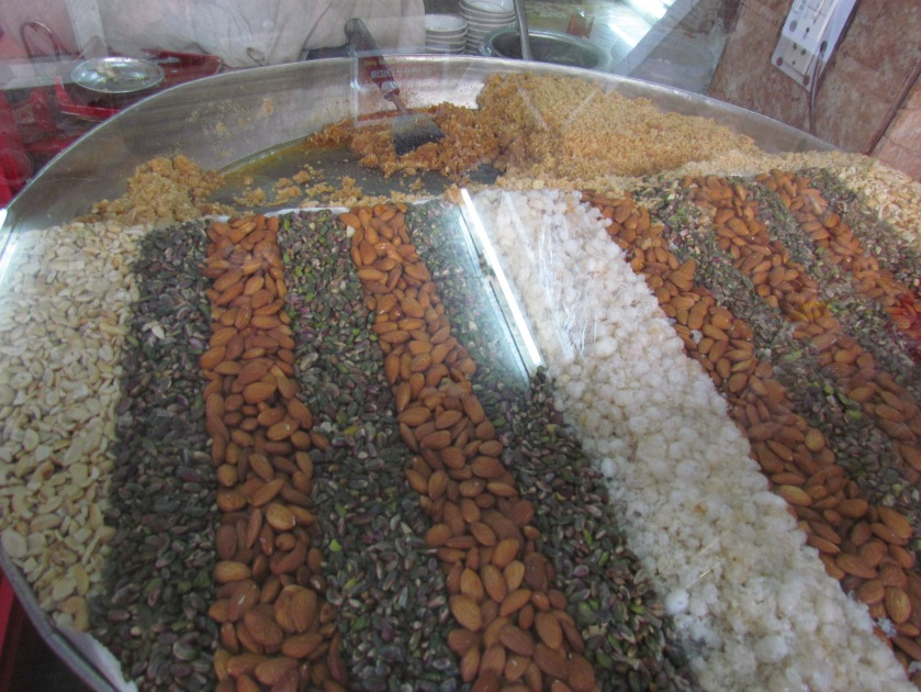 Dal halwa with a bed of dry fruits