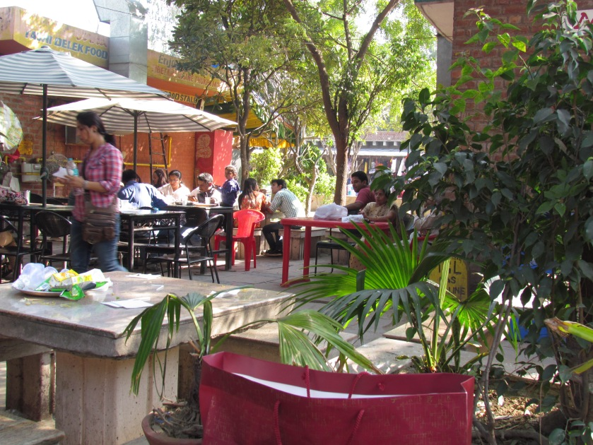 Outdoor seating at Dilli Haat
