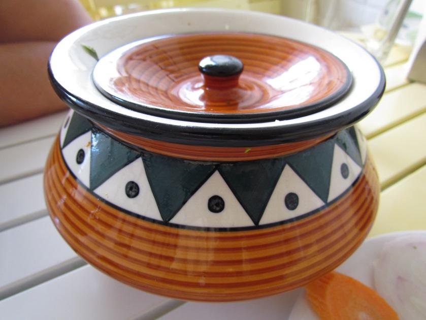 Handi in which Biryani was served