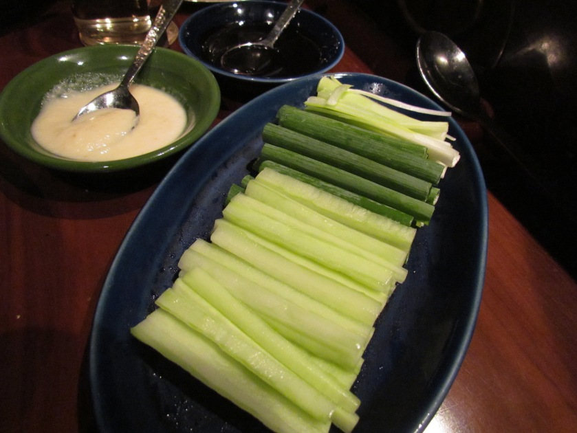 condiments served with Peking Duck
