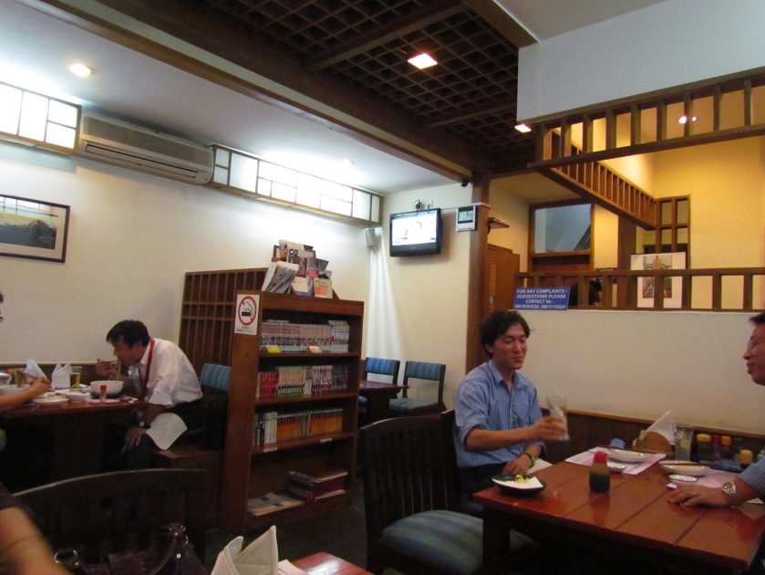 interiors of the restaurant
