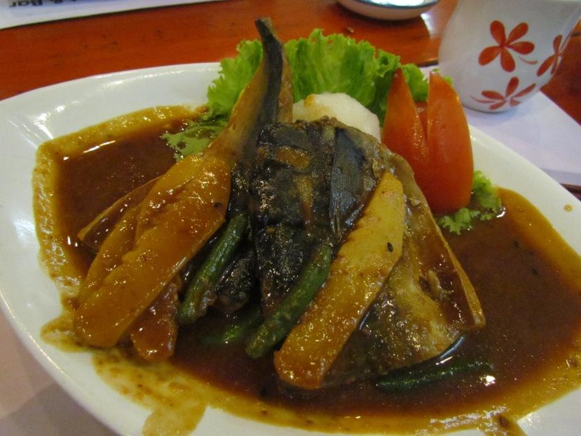 Mackarel in sweet miso sauce