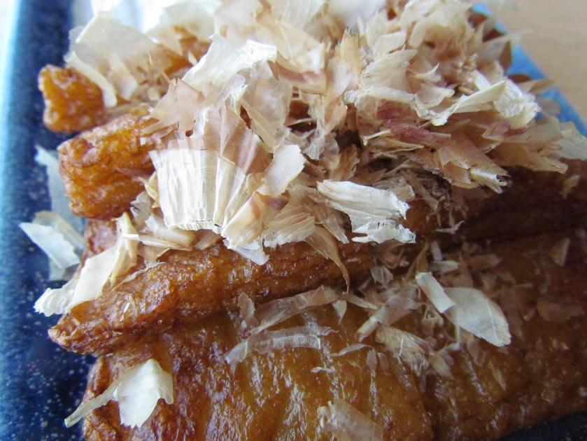 close up of dry fish flakes aop Satsuma age