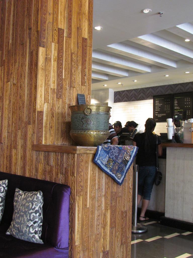 Ethnic Indian elements at Starbucks