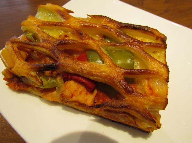 Chicken & vegetable lattice