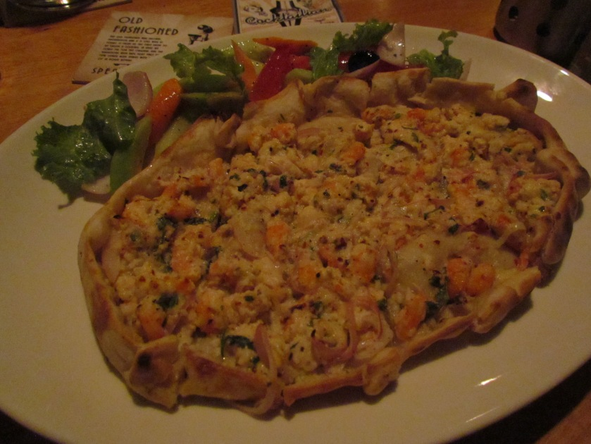 Flatbreads with  Spicy Shrimp