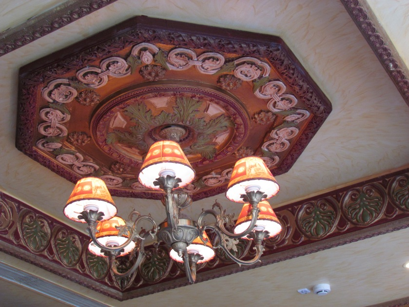 the ornate ceiling