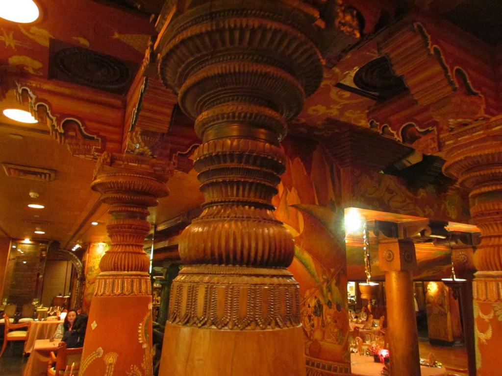 The spice route the imperial janpath near cp new delhi - Kerala style pillar design ...