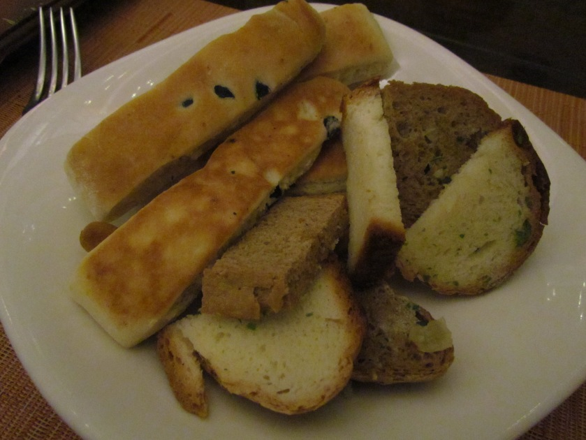 Assorted breads with Tapenade
