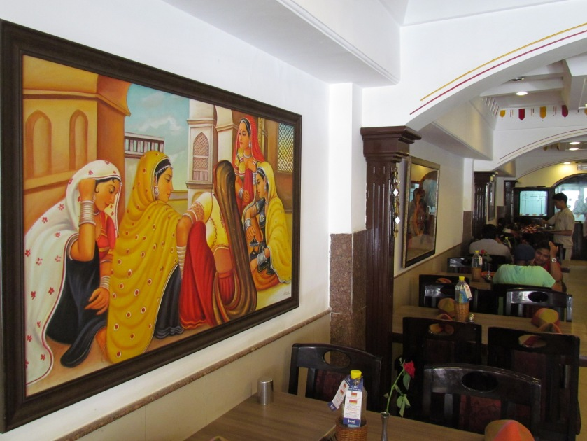 beautiful paintings on the wall
