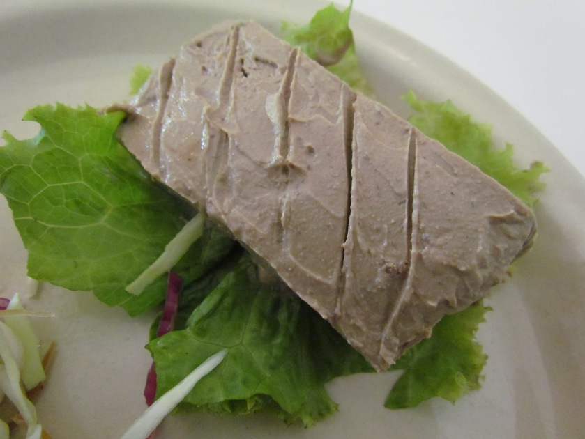 close up of liver pate