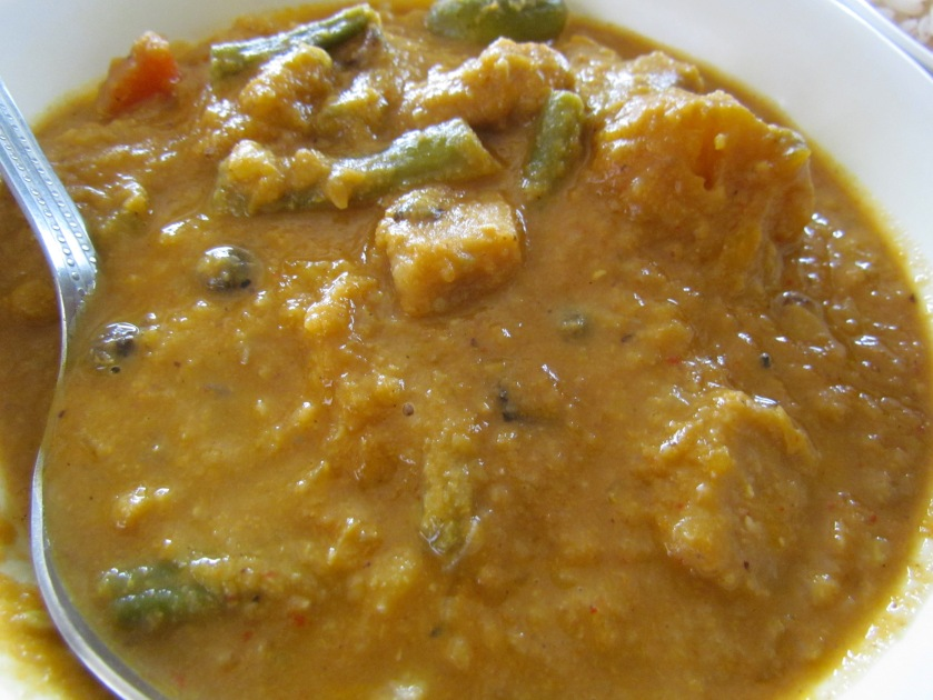 veggie curry called Khatkhate