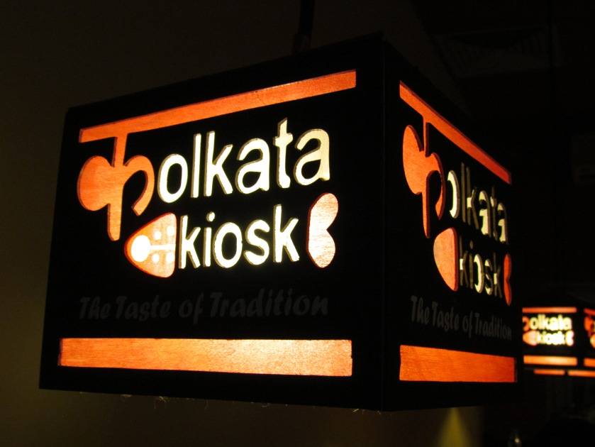 kolkata kiosk lamp shades in the dining area