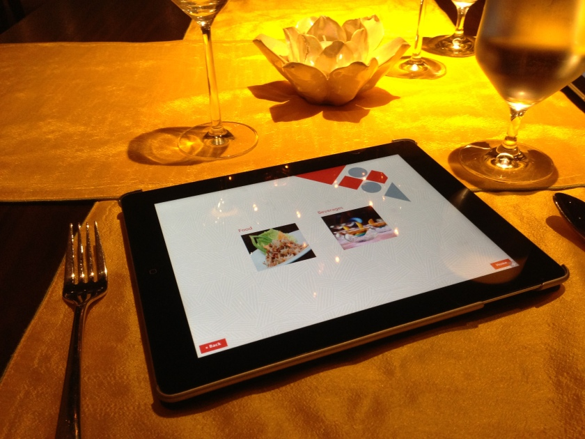 i pad menu card