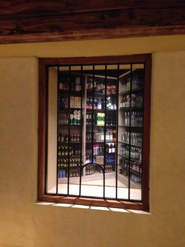 An illusion of a Dhaba booze shop created very smartly