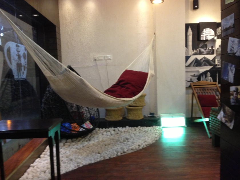 Hammock in the restaurant
