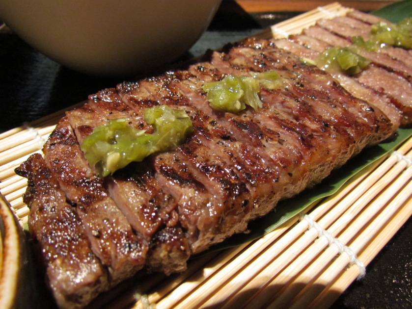 Grilled Wagyu striploin