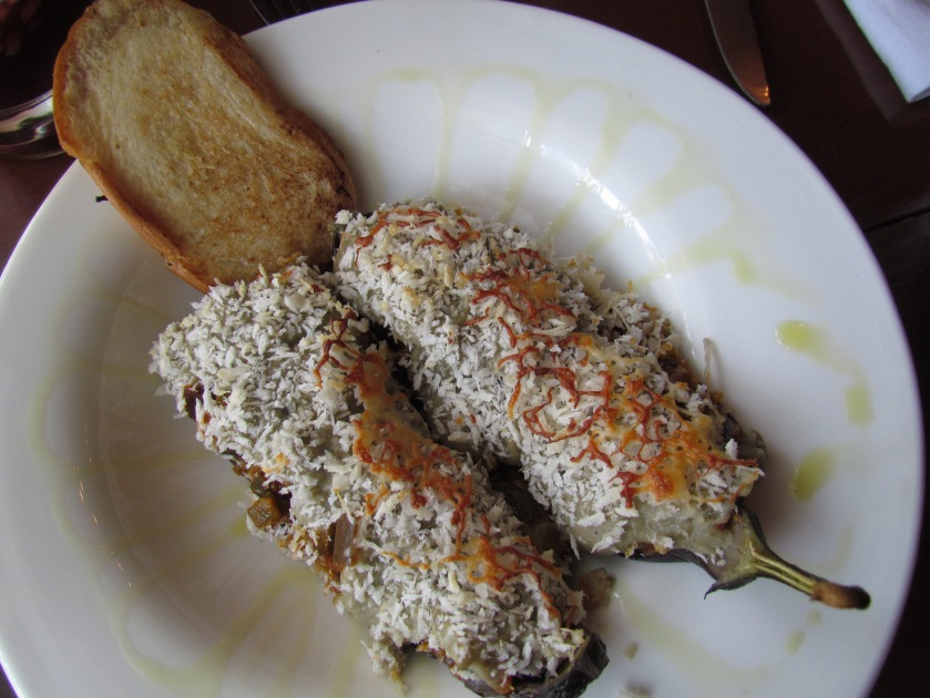 Eggplant caviar with goat cheese
