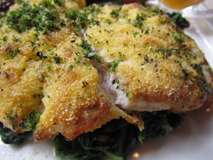 Crusted halibut