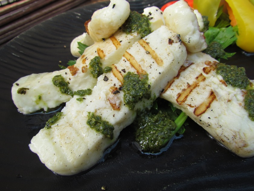Grilled haloumi.