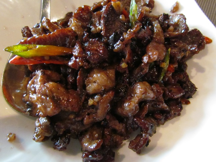 Taosee pork with fermented black beans & red chilly