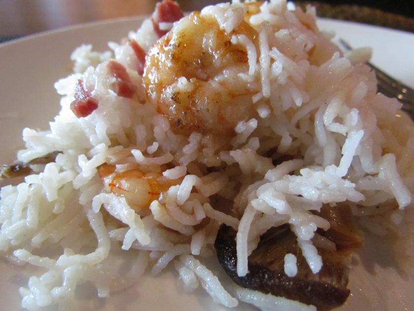 'Bacon and prawn clay pot rice a special canton spice company rice preparation