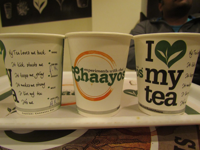 Different facets of teh tea cup at Chaayos