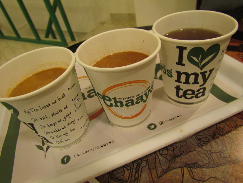 two cups of desi chai & the last one is God's tea.
