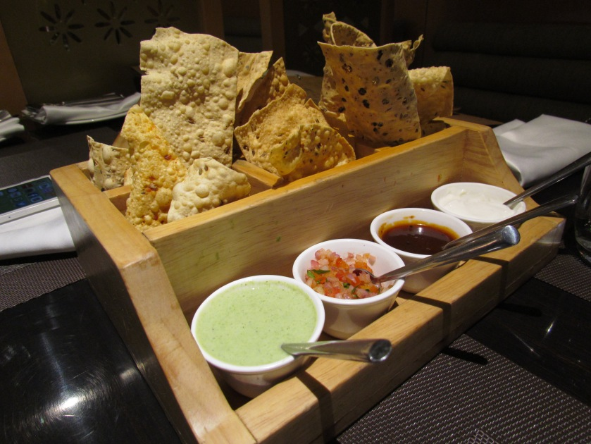 assortment of papads & chutneys