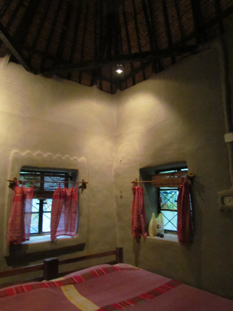 inside the mud house