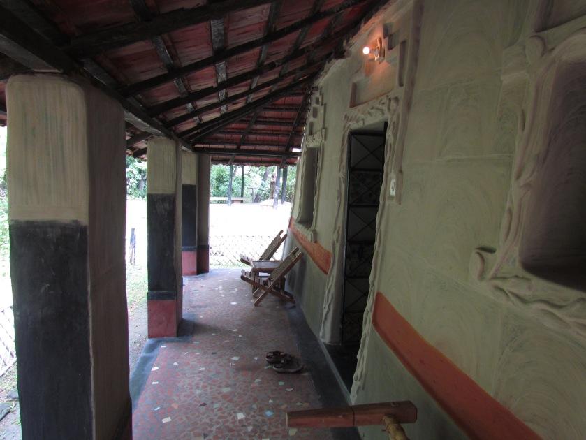 balcony of mud house