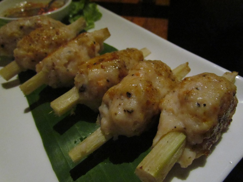 Grilled Prawn sugarcane