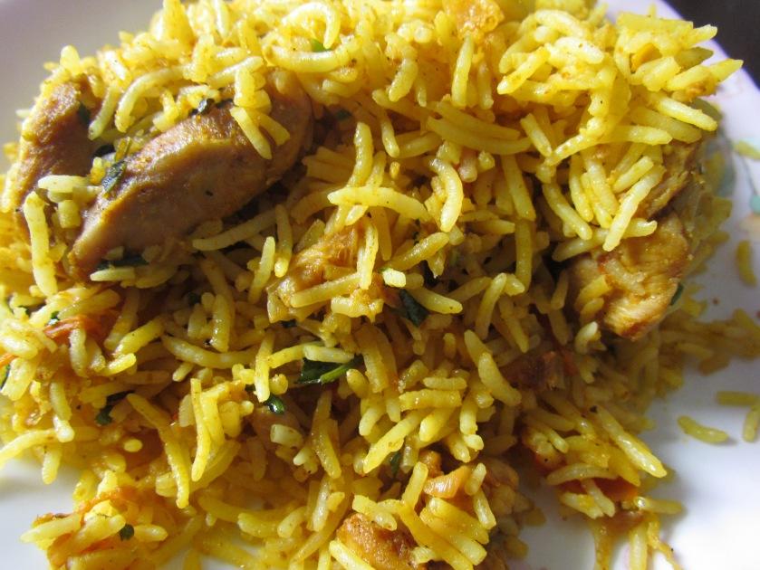 chicken  biryani that we got in the name of Chemeen biryani
