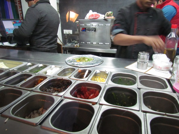 Ingredients for pizza toppings of various kinds